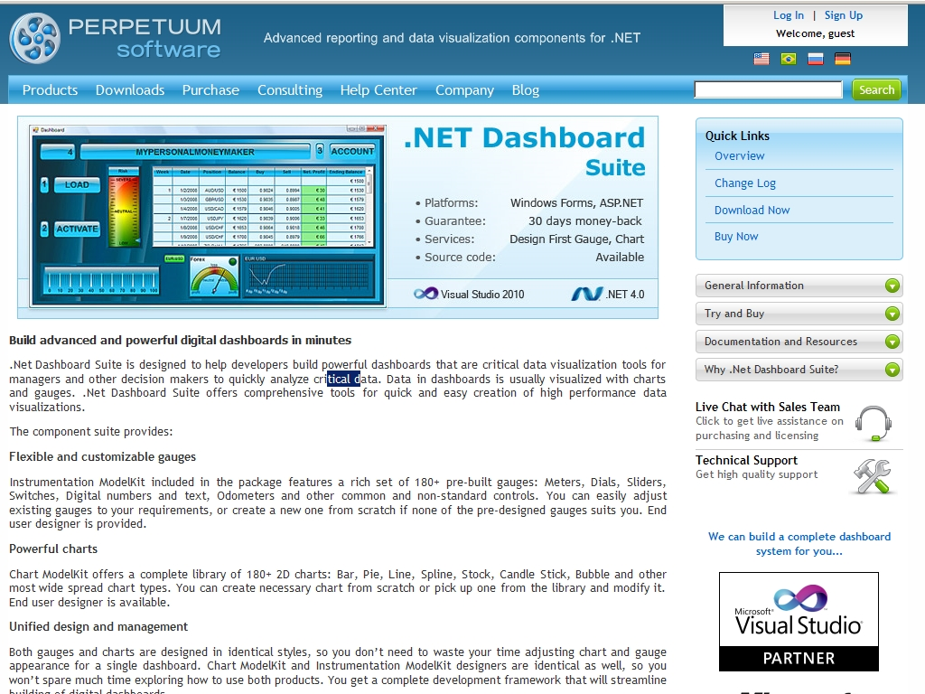 .NET Dashboard Suite
